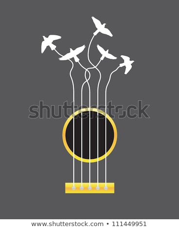 Guitar Acoustic Isolated on Gold stock photo © mkm3