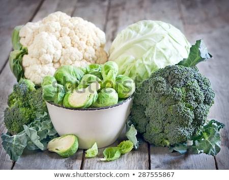 broccoli · vers · houten · tafel · voedsel · natuur · tabel - stockfoto © elenaphoto