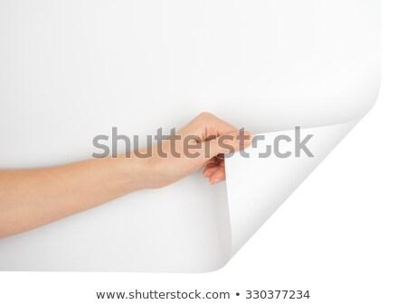 Kéz iroda papír könyv háttér űr Stock fotó © leeser