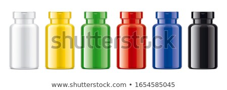 Yellow Plastic Medicine Bottle. Isolated stock photo © iofoto