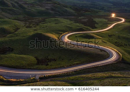 estrada · estrada · rural · outono · cores · laranja · viajar - foto stock © markross