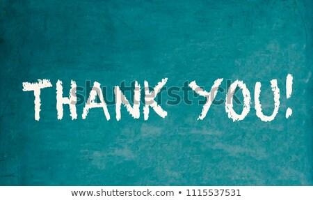 ありがとう 書かれた 黒板 手書き 中心 背景 ストックフォト © bbbar