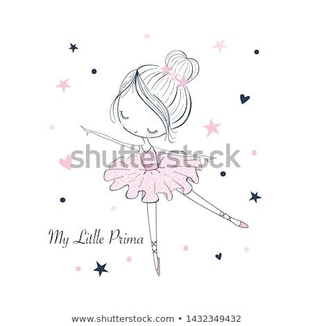かわいい バレエダンサー 少女 孤立した 白 ダンス ストックフォト © lordalea