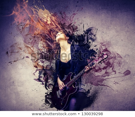 hard rock beautiful woman Stock photo © Fernando_Cortes