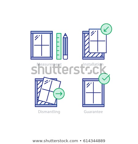 Window replacement finishing works Stock photo © milsiart