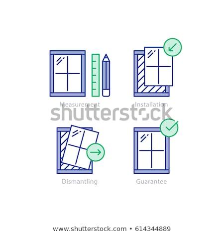 ablak · csere · ablakok · idősebb · otthon · fa - stock fotó © milsiart