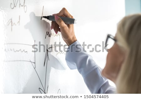 Teacher writing on white board Stock photo © photography33