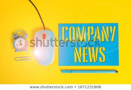 şirket · haber · gazete · rulo · beyaz - stok fotoğraf © devon