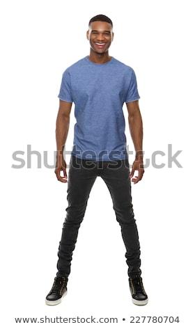 pose · jovem · africano · modelo · masculino · posando - foto stock © stockyimages
