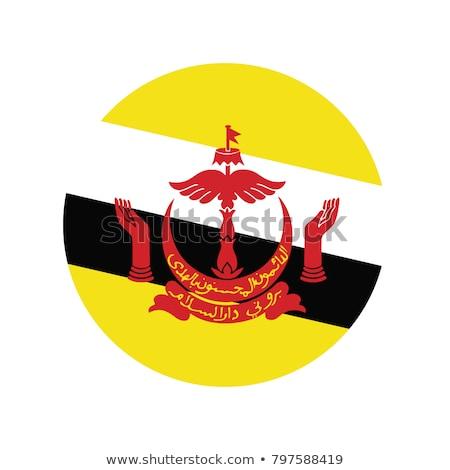 Бруней флаг икона изолированный белый интернет Сток-фото © zeffss
