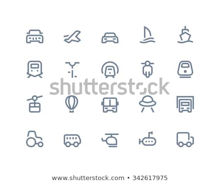 airport icons marine series stock photo © sahua