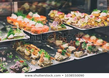 szendvics · tyúk · máj · fehér · sütés · papír - stock fotó © veralub