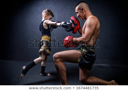 Harc sportok portré piros fehér férfi Stock fotó © photography33