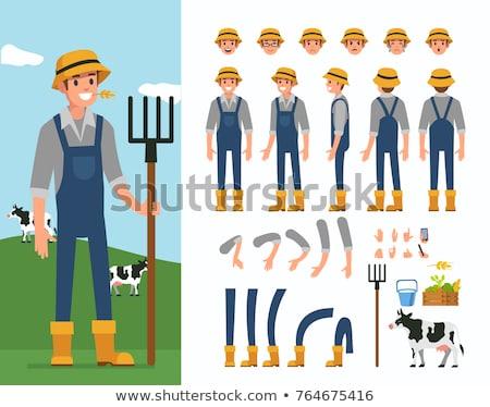 アクション 農家 小さな 立って フィールド 準備 ストックフォト © filmstroem