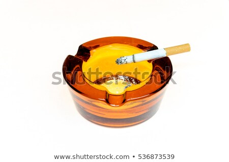 brown Ash-tray isolated Stock photo © shutswis