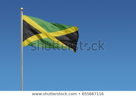 Political waving flag of Jamaica Stock photo © perysty