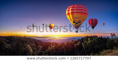 日の出 バルーン 熱気球 空 太陽 後ろ ストックフォト © macropixel