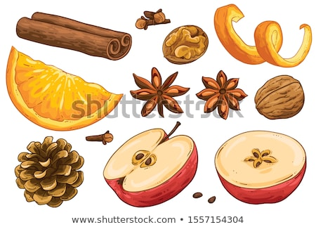 apple,cinnamon and decoration Stock photo © M-studio