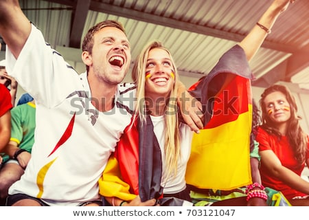 Couple supporting German football team Stock photo © photography33