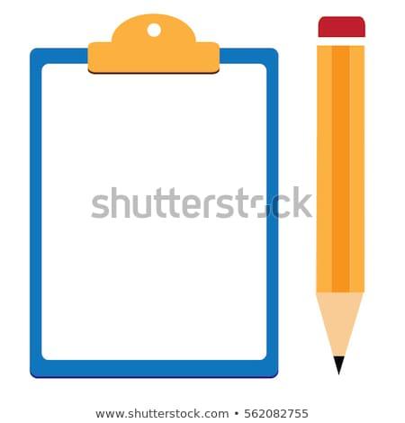 Clipboard lápis página em branco escritório metal educação Foto stock © timurock
