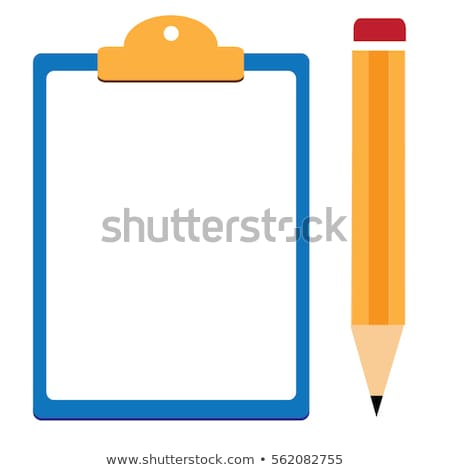 Appunti matita pagina vuota ufficio metal istruzione Foto d'archivio © timurock