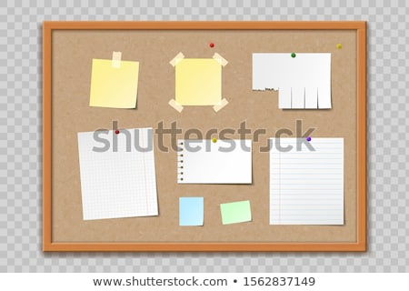 Stockfoto: Paper On Corkboard - Vector Illustration