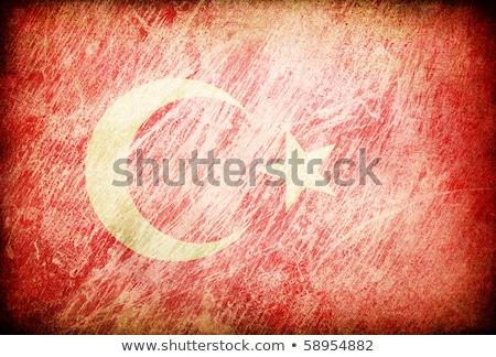 Grunge frotado bandera serie de fondos Turquía Foto stock © pashabo