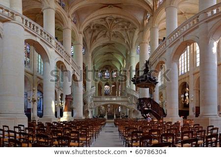 Iç aziz kilise Paris ışık taş Stok fotoğraf © jakatics