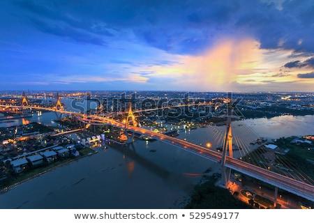 bhumibol bridge in thailand stock photo © witthaya