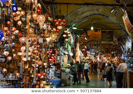 Turco lâmpadas mercado istambul Turquia vidro Foto stock © ozaiachin
