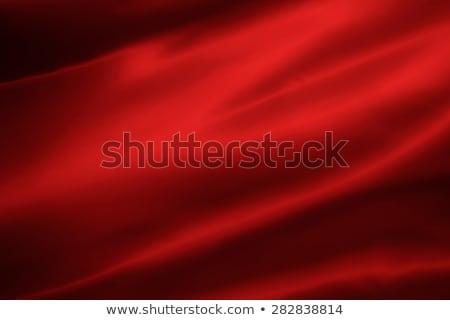 Czerwony satyna piękna jedwabiu streszczenie Zdjęcia stock © clearviewstock