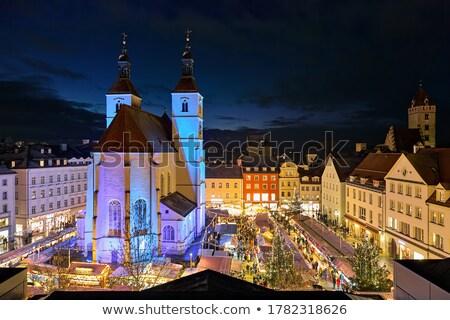 Regensburg at dusk Stock photo © joyr