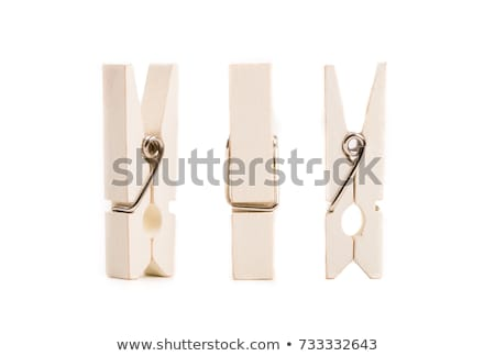 Stock photo: Pegs Isolated