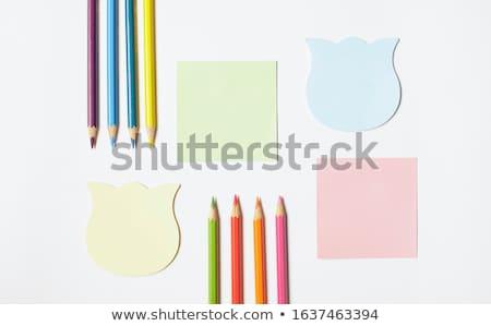 rózsaszín · fehér · notebook · óriásplakát · jegyzettömb · ír - stock fotó © wavebreak_media