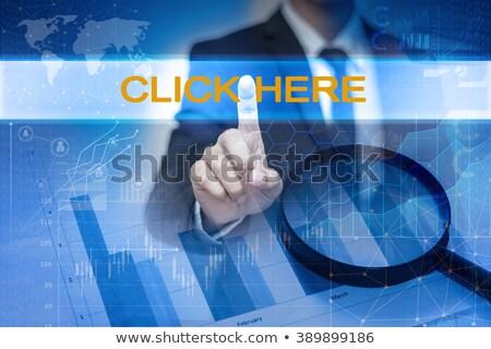 środowisk ekran dotykowy kliknij tutaj słowo komputera strony Zdjęcia stock © fotoscool