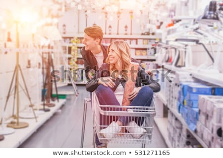 Couple magasin femme sourire bâtiment Photo stock © photography33