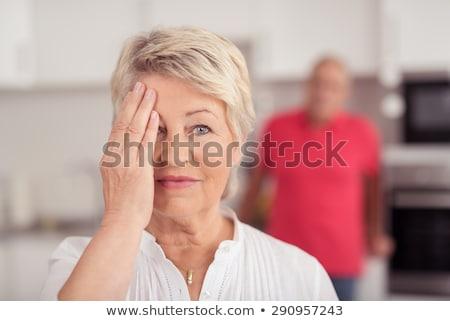 Kobieta oczy ręce uśmiech zabawy funny Zdjęcia stock © photography33