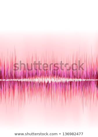 Rosa onda sonora branco eps8 vetor arquivo Foto stock © beholdereye