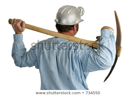 laborer carrying pickaxe Stock photo © photography33