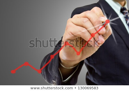 business graph steps of success on the screen stock photo © alexmillos