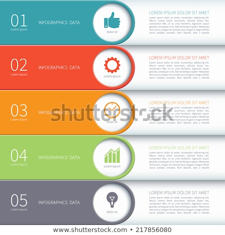 Colored bar set with arrow stock photo © make