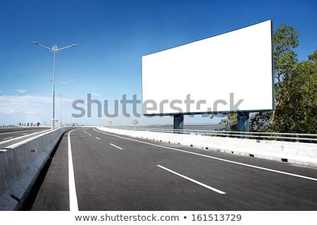 Zdjęcia stock: Drogowego · billboard · autostrady · podpisania · zewnątrz · Widok