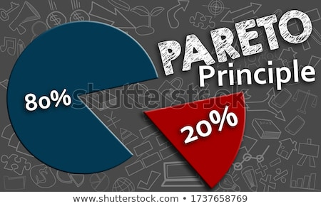 3d 8020 pie chart stock photo © raywoo