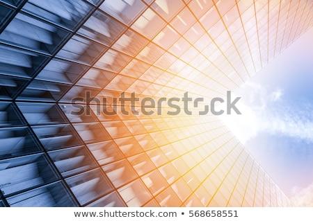 Arranha-céus abstrato estilo diretamente abaixo cidade Foto stock © eldadcarin