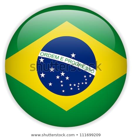 ステッカー ブラジル フラグ eps10 星 ボタン ストックフォト © SolanD