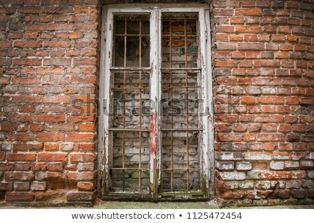 textured wall bricked up window stock photo © sirylok
