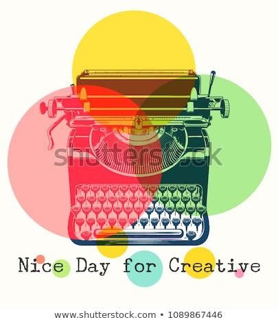 Key on Grunge Typewriter. Business Concept. Stock photo © tashatuvango