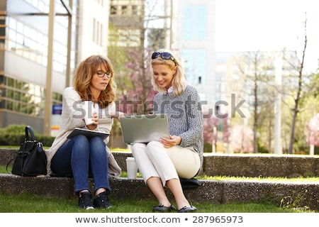 Two people taking break. stock photo © iofoto