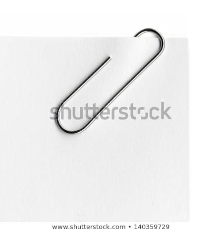 Metaal paperclip papier witte boek ontwerp Stockfoto © m_pavlov