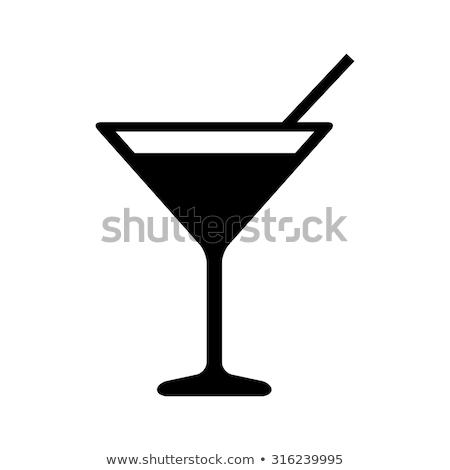 zöld · folyadék · csobbanás · martinis · pohár · izolált · fehér - stock fotó © snyfer
